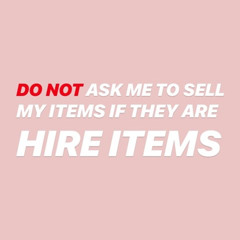 If I wanted to sell my items, I would write    - Depop