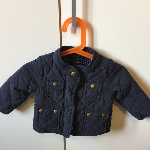 b9ddc91f94266 Gap baby girl quilt jacket . Navy blue colour Perfect for - Depop