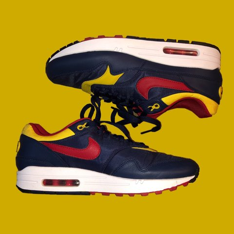 purchase cheap ccd79 fd84c ❤ 💛💙 NIKE AIR MAX 1 PREMIUM ❤ 💛💙 these are probably my - Depop