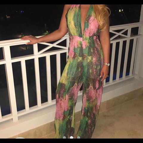 950bc6c69017 PLT jumpsuit. Perfect colours for holiday. Only worn once. - Depop