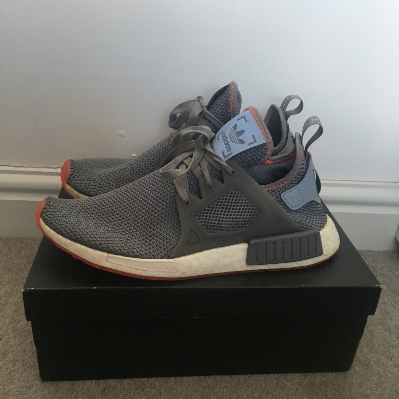 Adidas Nmd Xr1 Grey And Red Uk 10 7 10 Condition Depop
