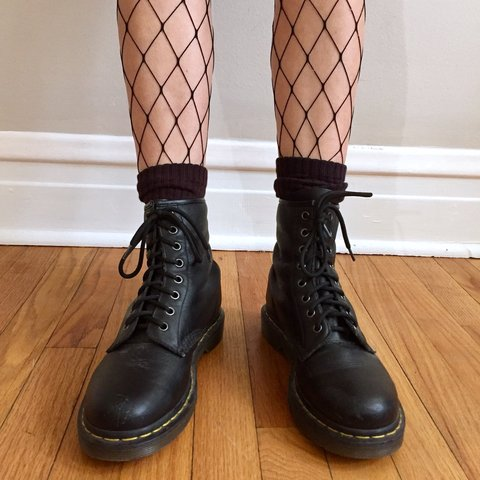 a88a2f55bf0e Dr. Martens Women s 1460 Nappa combat boots in black. the in - Depop