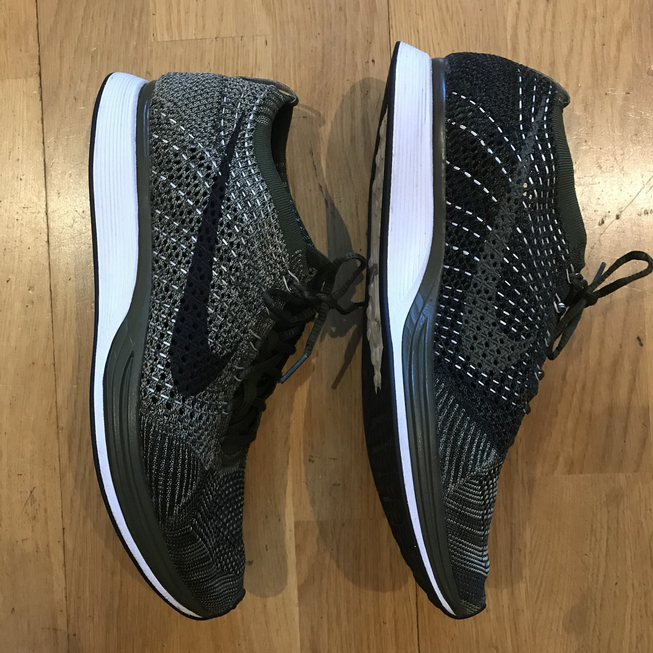 fe21fc6b0f59f NIKE FLYKNIT RACER - Army Green GREAT 9.5 10 Condition Only - Depop
