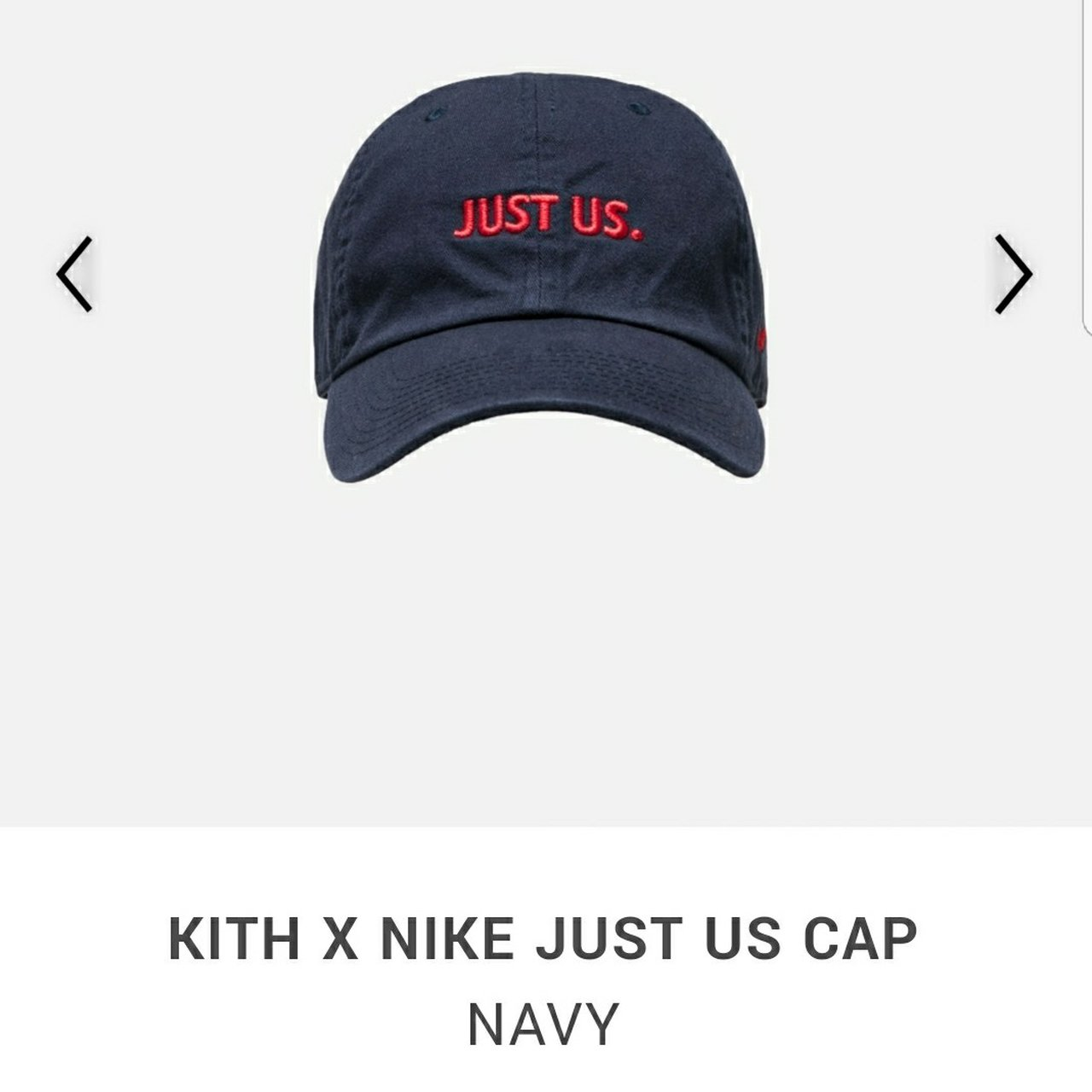 Kith x Nike Take Flight Collection Just Us Cap Hat Navy - Depop 26053e24e68