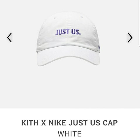 bc3a9e33b55a92 Kith x Nike Take Flight Collection Just Us Cap White - Depop