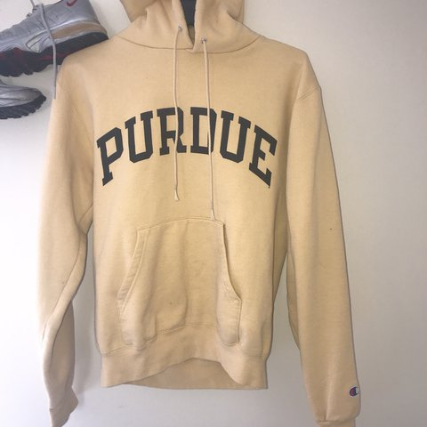 b4a18e3c51b1 vintage look champion purdue hoodie size small depop .