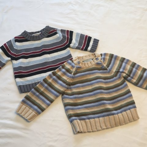 6c89bd691be Baby boy clothes   2 knitted long sleeves or sweaters   very - Depop