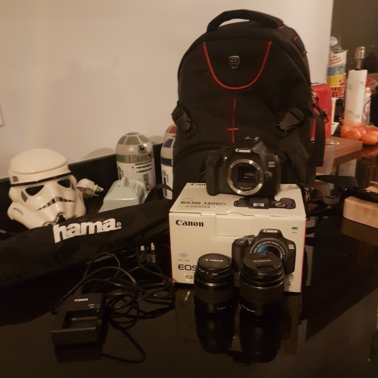 Canon EOS 1300D Camera DSLR w/ box Comes with: 💥EF-S    - Depop