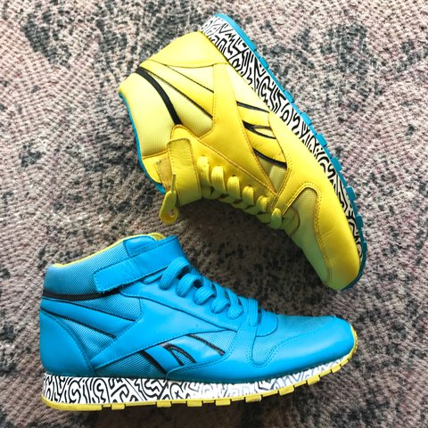 6385abcf75a Reebok Keith Haring Neon Trainers One yellow