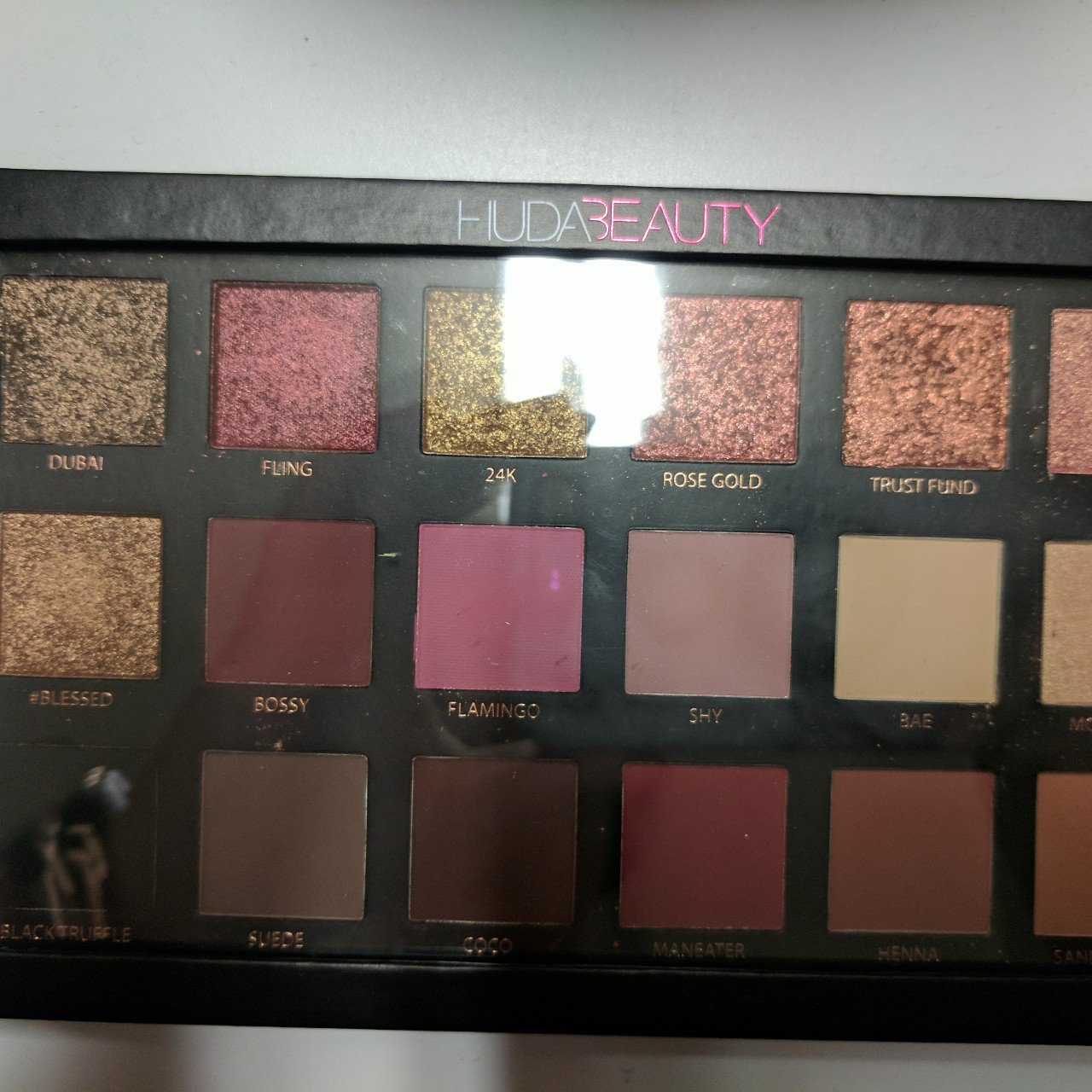 Huda Beauty Rose Gold Palette Gently Used Twice Excellent Of Depop