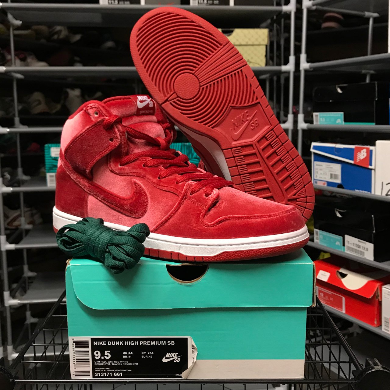 newest collection 37f45 6cd15  rnzy. last year. Portland, United States. Nike Dunk High Red Velvet Mens  size 9.5 fits women s size 11. Brand new.