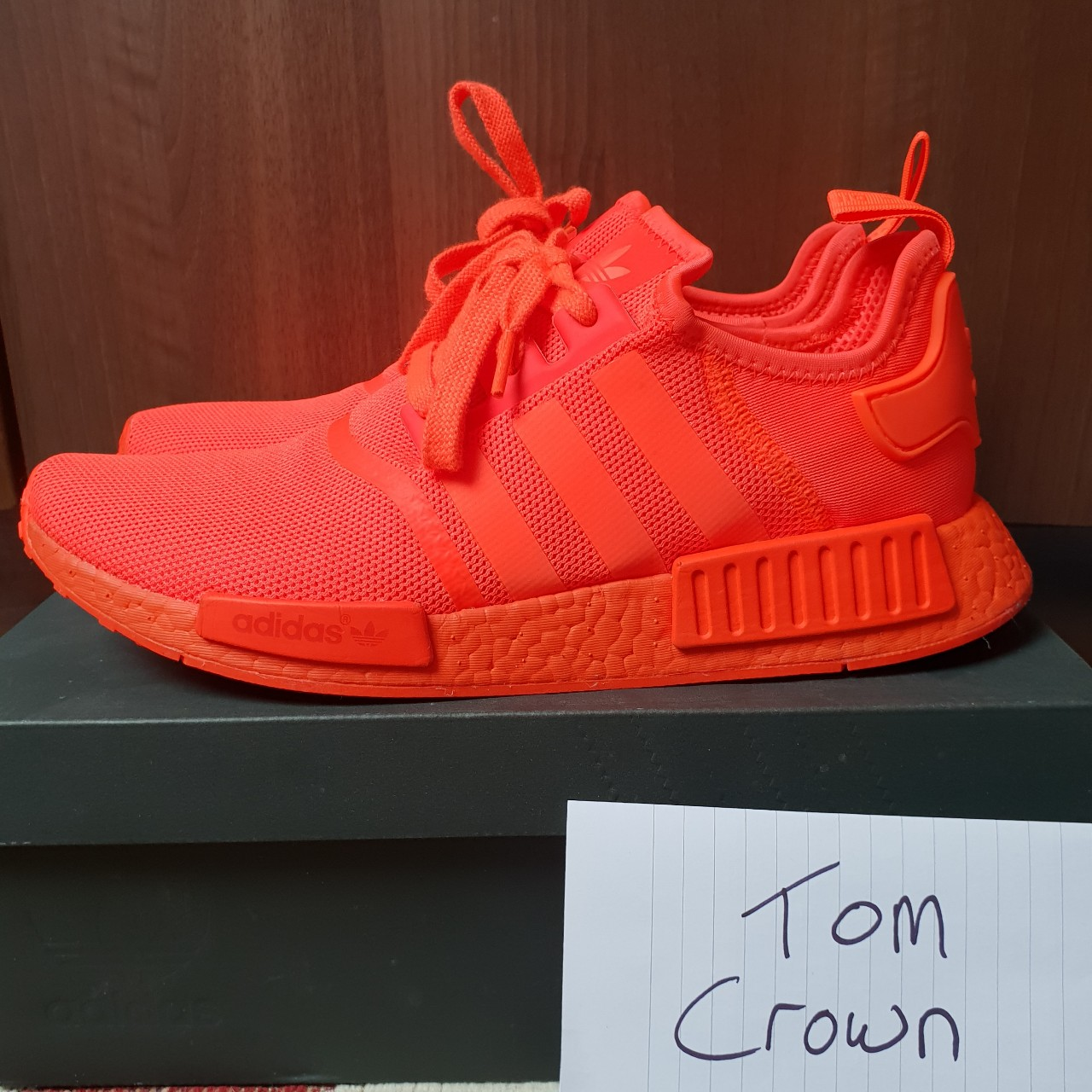 Adidas Nmd R1 Solar Red Uk10 5 100 Depop