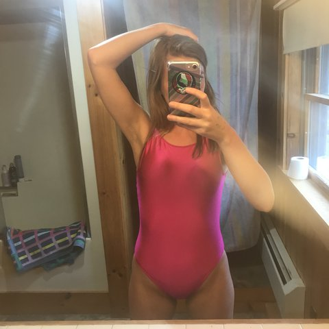 26cadb6a509 @audtrends. last year. Farmington, United States. Vintage Barbie Pink Body  Suit Says size medium. I am usually a small ...