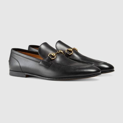 b089d7573e87 Gucci Jordaan leather loafer. Horsebit detail. Brand new