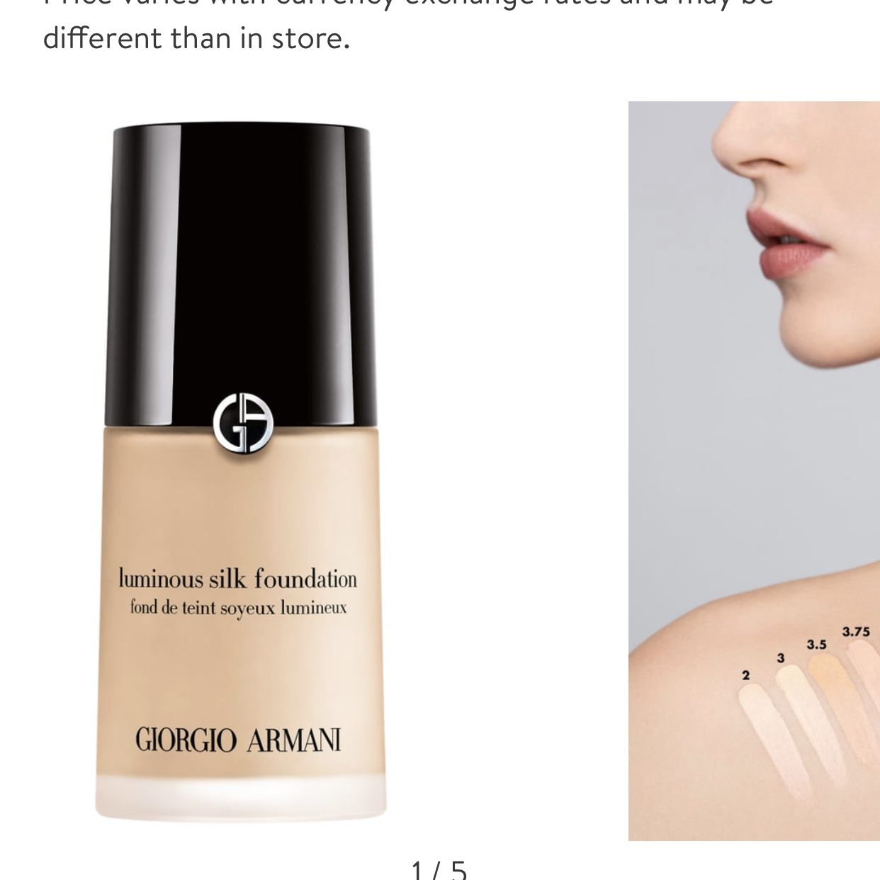 Giorgio Armani Luminous Silk Shade 3 Off 70 Buy