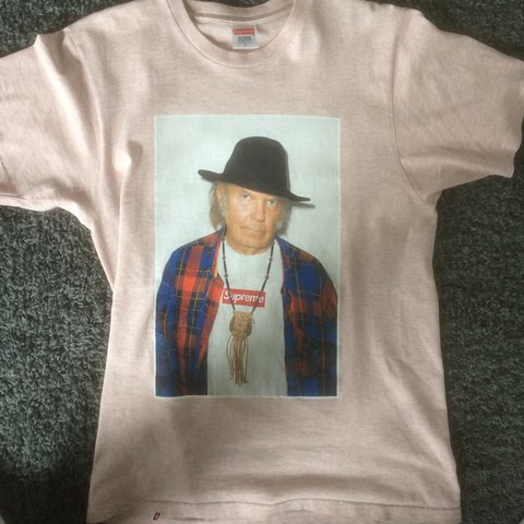89ab677d Supreme Neil Young Tee Size M 8,5/10 very good condition. - Depop
