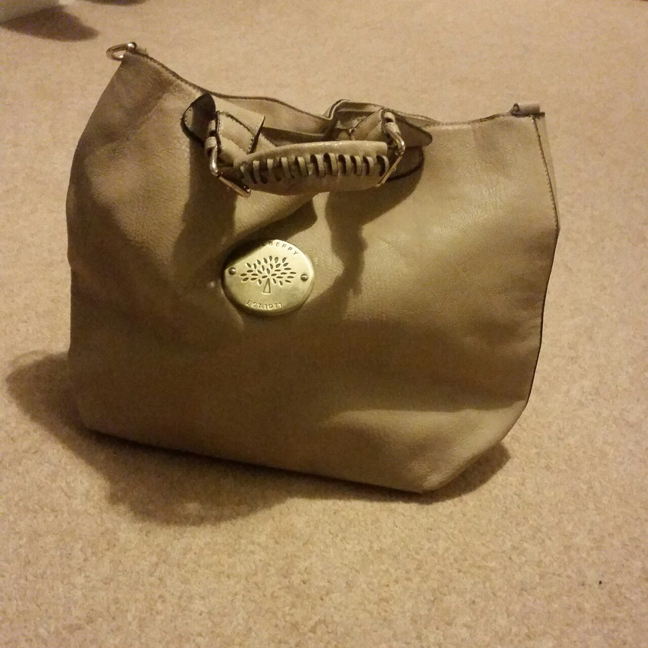 c3d6f763c6 Cream mulberry look a like handbag