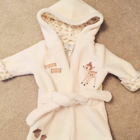 0 3 Months Bambi Dressing Gown From Disney Store Great As A Depop