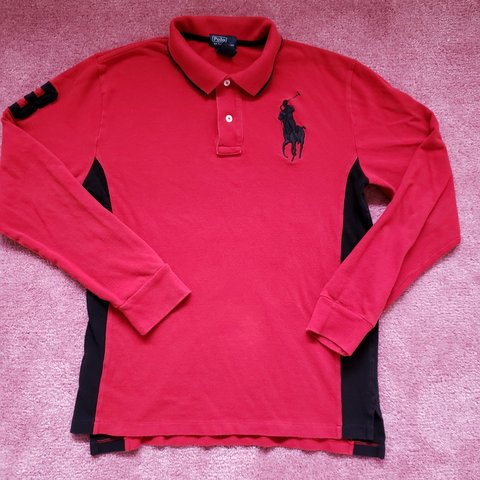 5908129de Polo Ralph Lauren Big Pony  3 L S Polo Shirt