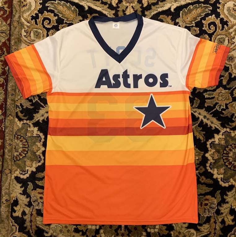 reputable site 7a040 3546f Houston Astro's retro Jersey #33 Mike Scott. This is... - Depop