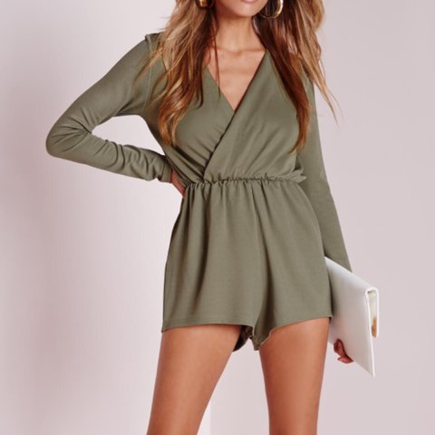 aea24771c9ae Missguided khaki green playsuit! Size 12