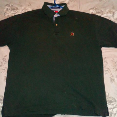 48fd70f8 Large dark green Tommy Hilfiger polo. Great condition, only - Depop
