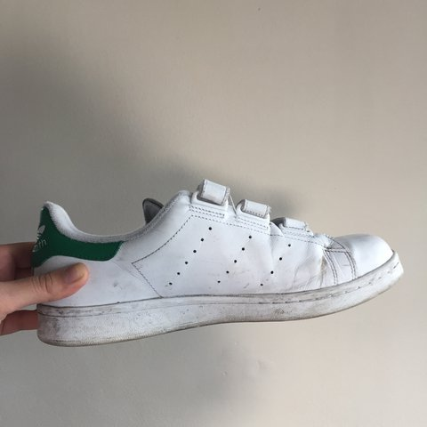 Adidas Stan Smith Velcro Trainers Size 7 - used - £20 inc   - Depop 689d02301