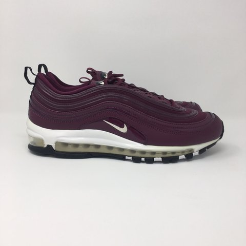 76aaed2e68b Nike Air Max 97 Premium Burgundy. BRAND NEW IN BOX WITH - Depop