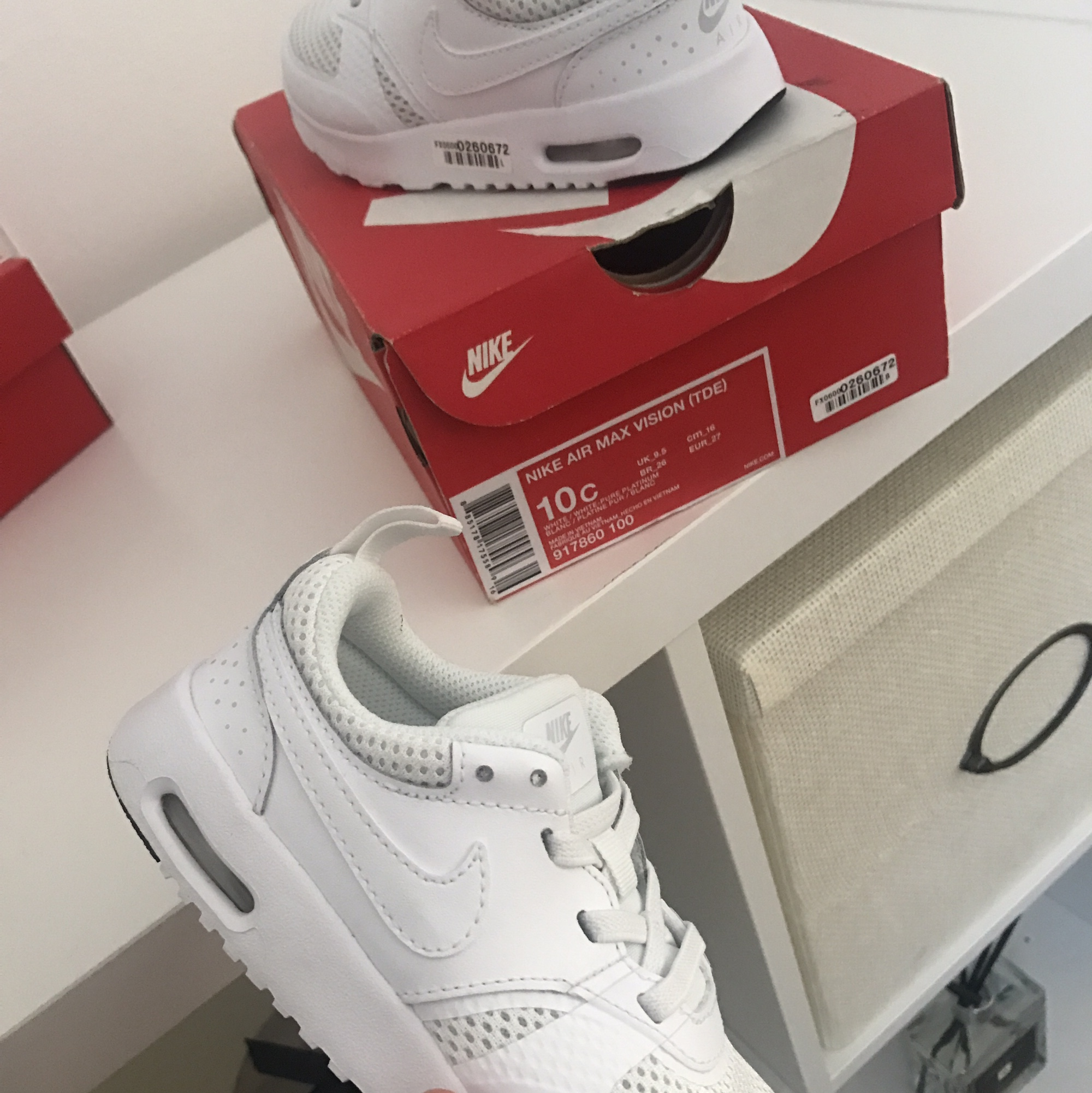 Nike Air Max Vision pearl white infant trainers Depop