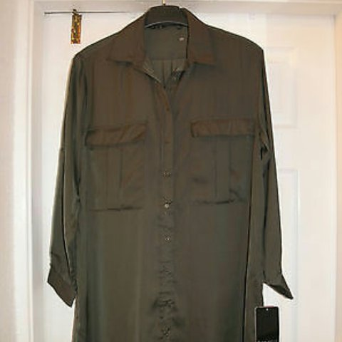 545e7bed20110 Zara khaki shirt dress