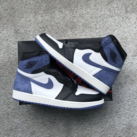 "250d993190e @mannchyld. last year. Miami, United States. Nike Air Jordan Retro 1 High OG  ""Blue Moon"" Size 12 100% Authentic DS"