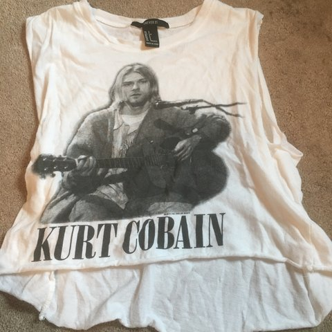 e560855b31c @jessedwards123. 29 days ago. Louisville, United States. Kurt Cobain  Nirvana cropped tank top in a size small