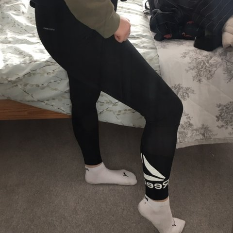 e19e0e160a763e @ciaraxpx. 2 months ago. Cambridge, United Kingdom. Reebok Black leggings  with mesh detail