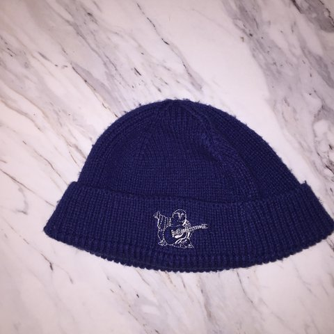 Men s true religion navy blue beanie  truereligion  hat  huf - Depop 61232145ec1