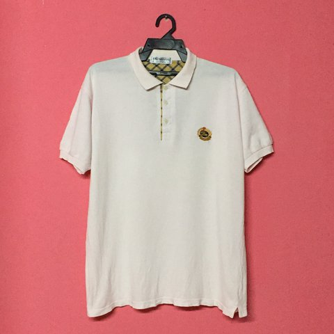ab34bcda @miemstore. last year. Malaysia. Vintage Burberrys Polo Shirt Embroidered  ...