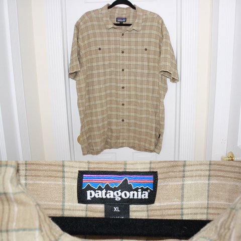 2110f447 PATAGONIA plaid hemp shirt Size XL GREAT condition, only a - Depop