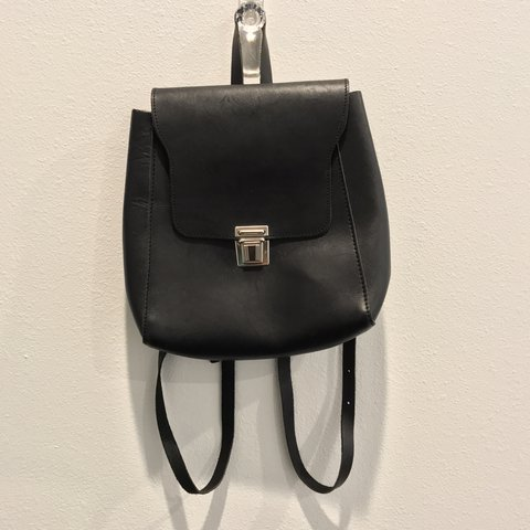 14b3fa790b Vecksy Last Year Los Angeles United States Brandy Melville Silver Buckle  Black Mini Backpack