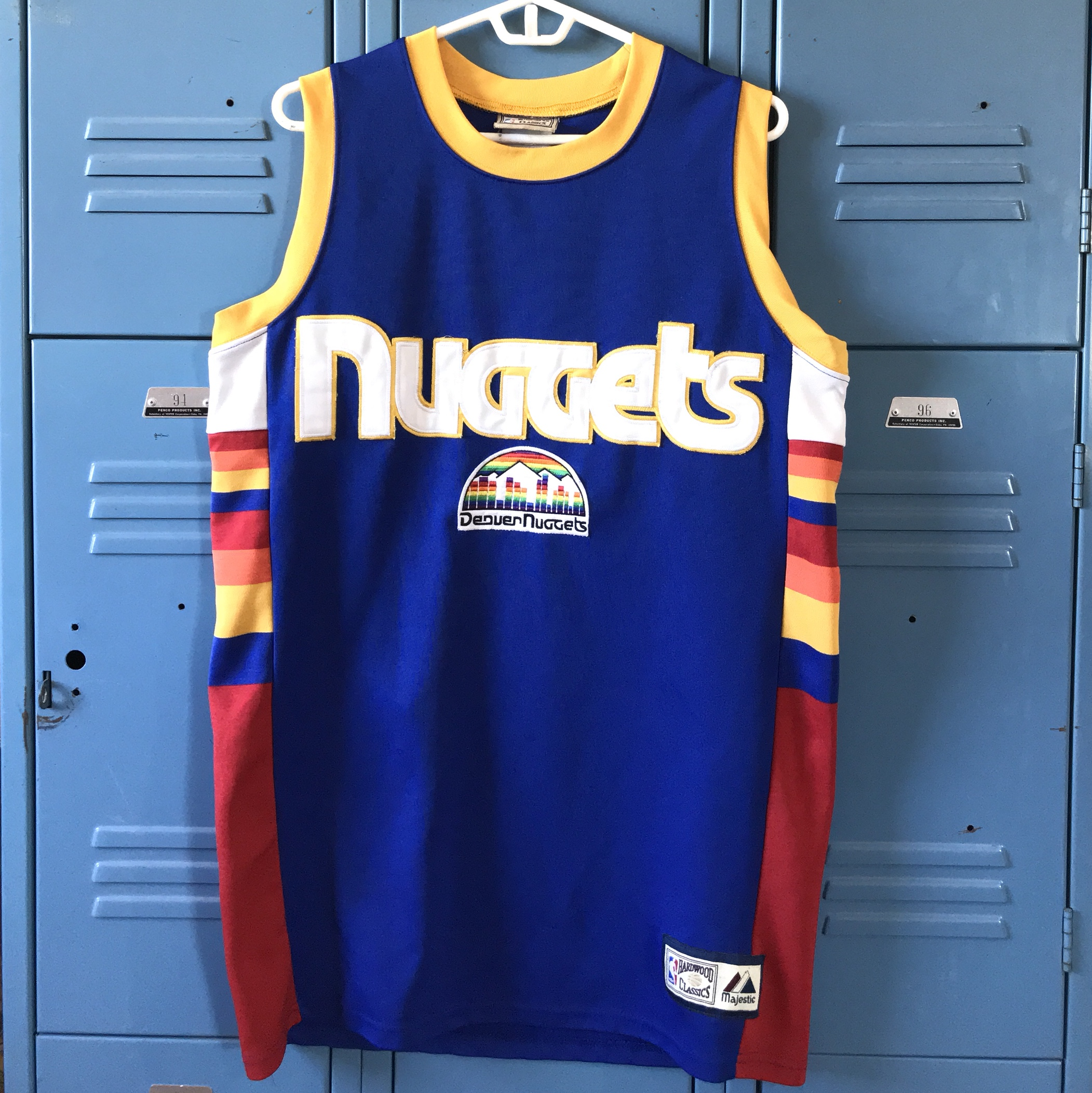 new product 9814c f9ba6 Majestic NBA Hardwood Classics Denver Nuggets... - Depop