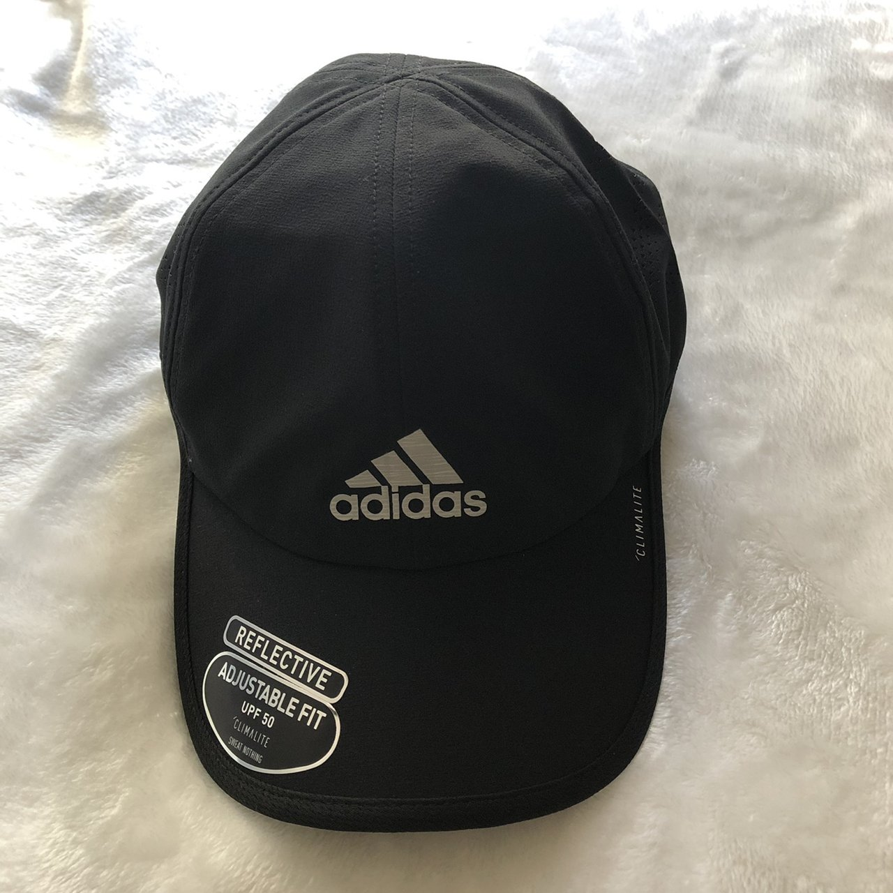 795bc9d63a5 Black Adidas Reflective Cap Brand New w Tags One Size 1 - Depop