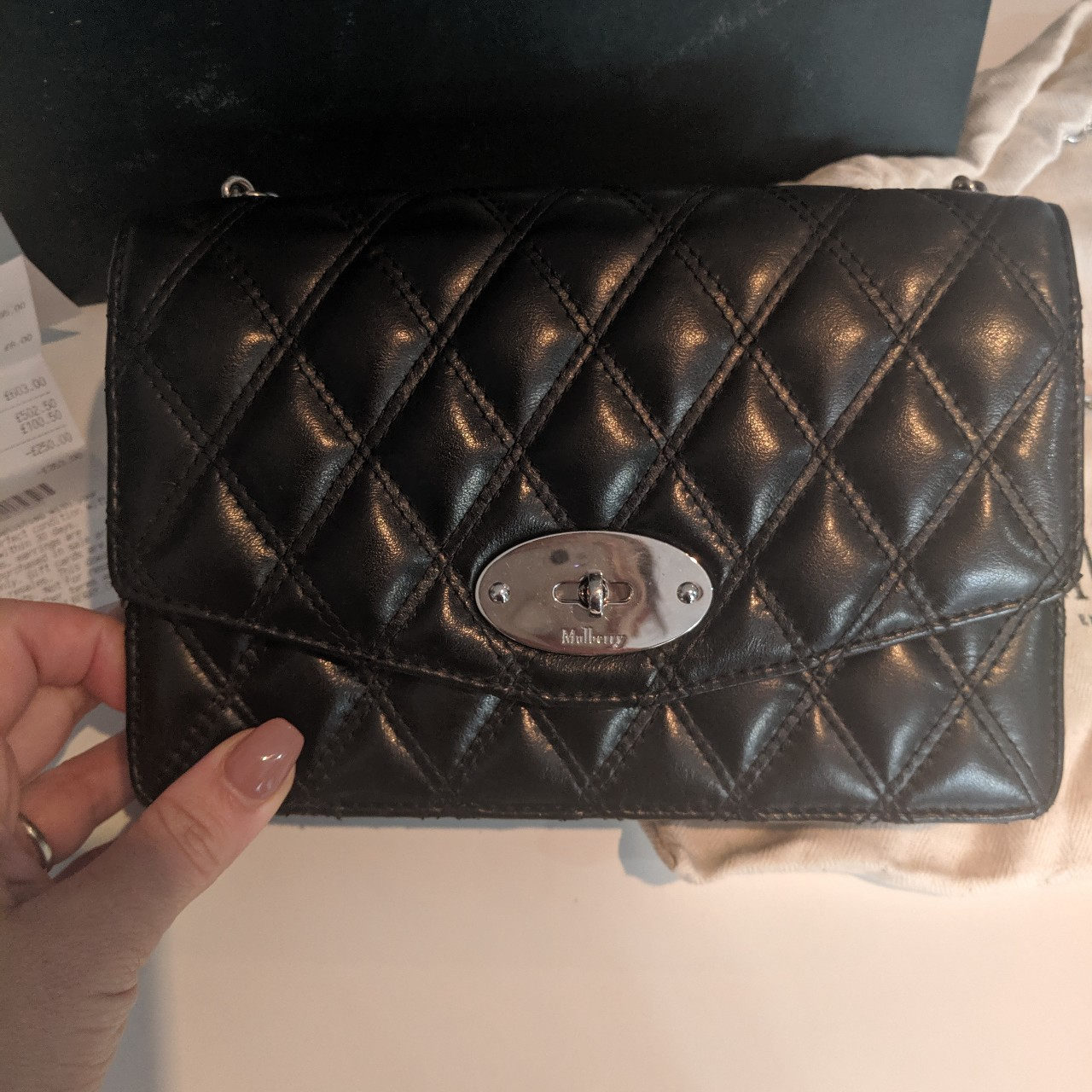 classic style coupon codes new styles Mulberry Small Darley in quilted black leather. Used... - Depop