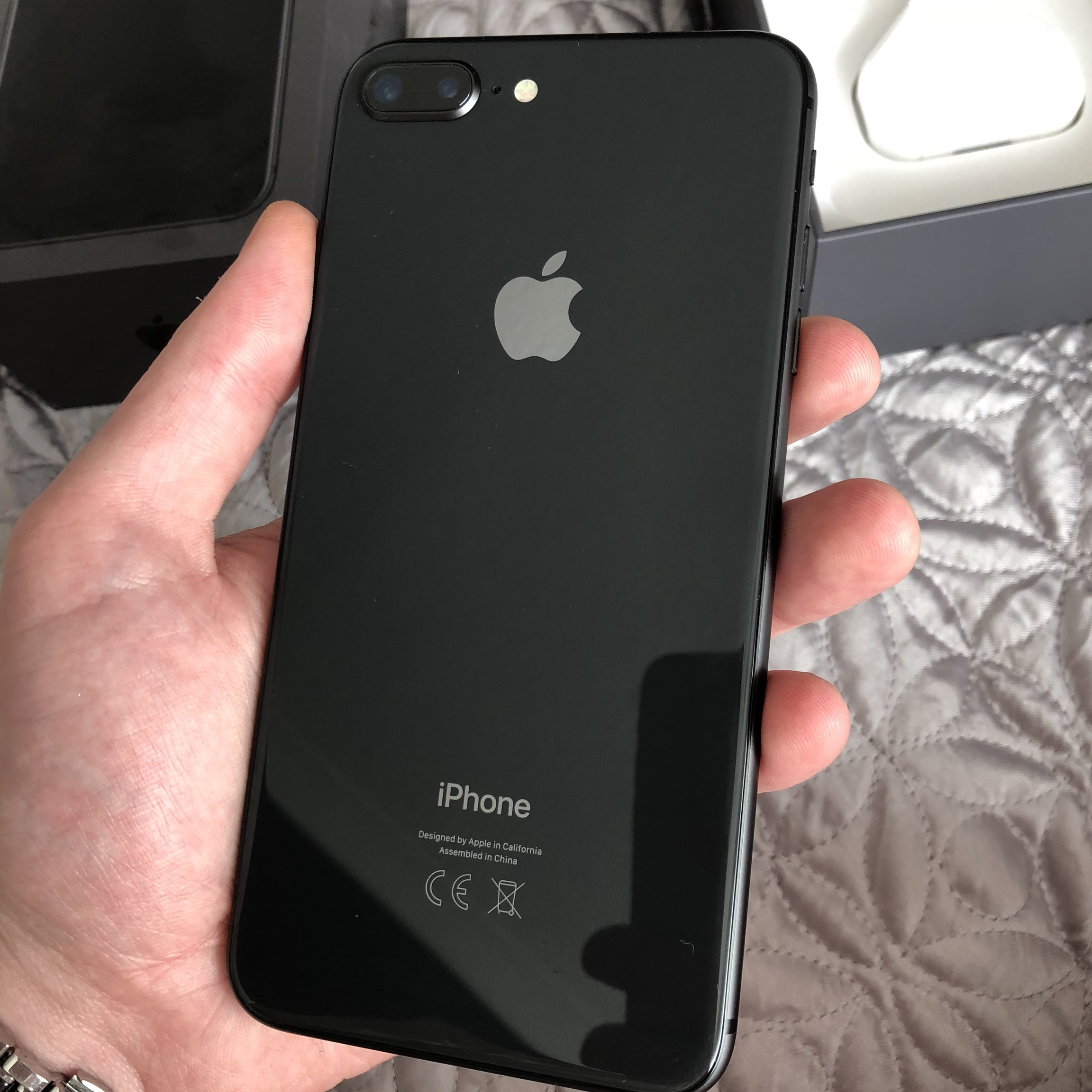 new concept 91c9e bc313 iPhone 8 Plus as new no marks no scrapes space grey... - Depop