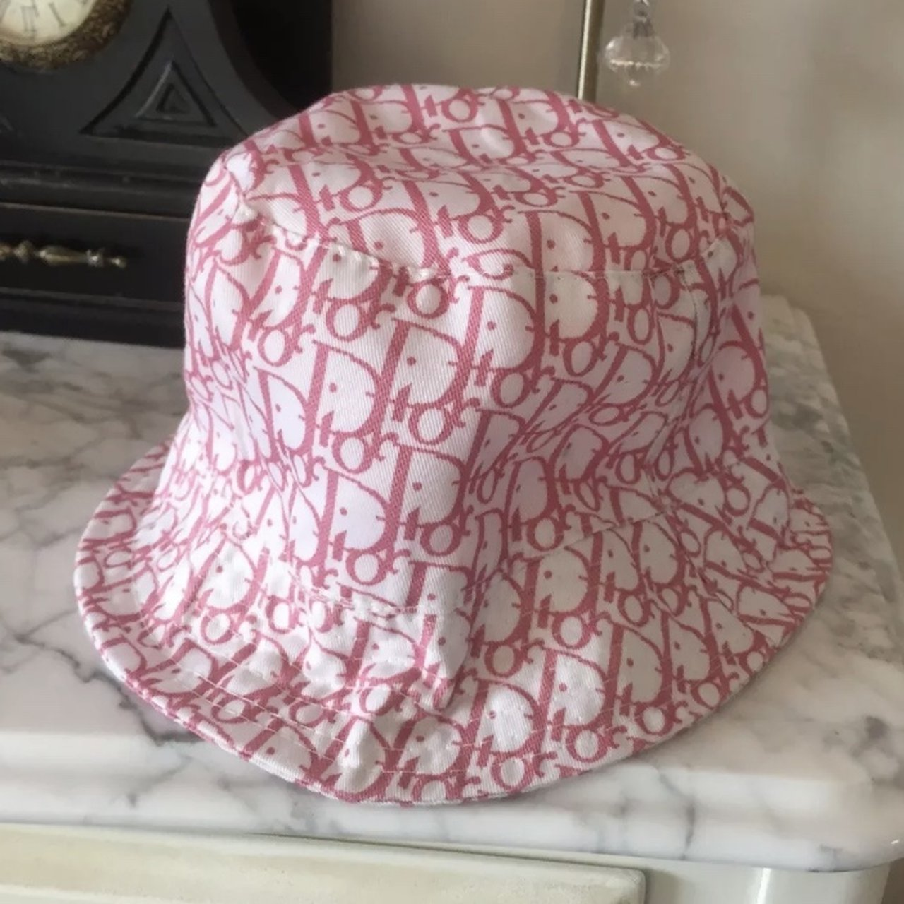 Dior monogram sun hat   bucket hat. Unsure if genuine as all - Depop 0ba5f10fe1e