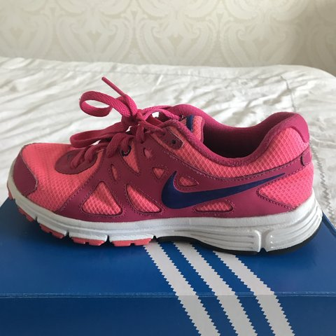 af688a52b58 REDUCED  Two tone pink nike Revolution 2 running trainers. - Depop