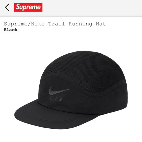 ... best loved e6fd6 d459b Supreme Nike Trail Running Hat Colour Black  Purchased on - D ... eda10c101bea