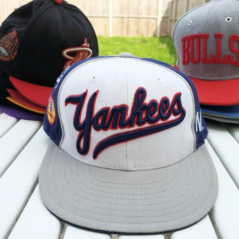 49a96af1c3066 Rare vintage New York Yankees Hat One size Small patch like - Depop