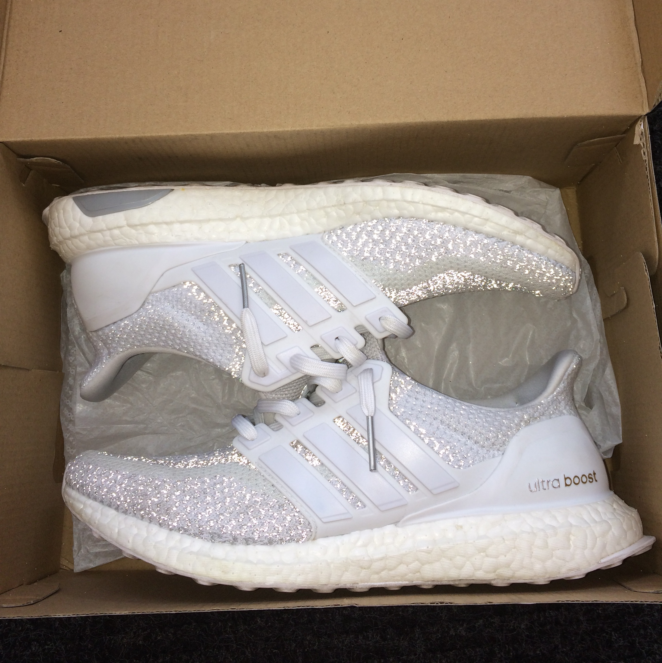 "reputable site d705c aa299 Adidas Ultra Boost 2.0 ""White Reflective"" LTD size... - Depop"