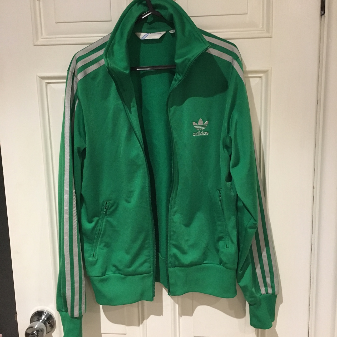 Adidas originals jacket tracksuit top Bright Depop