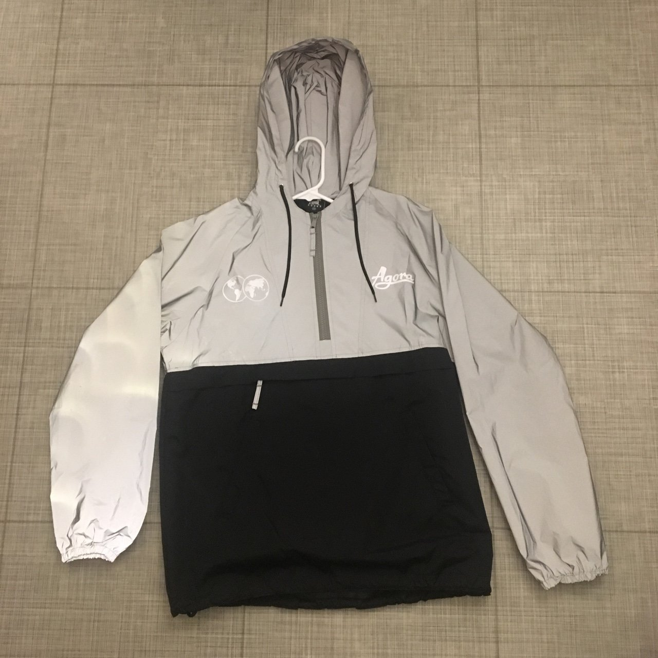 787bfb1e54 3M Reflective Agora Windbreaker. Fits Small - Large Very and - Depop