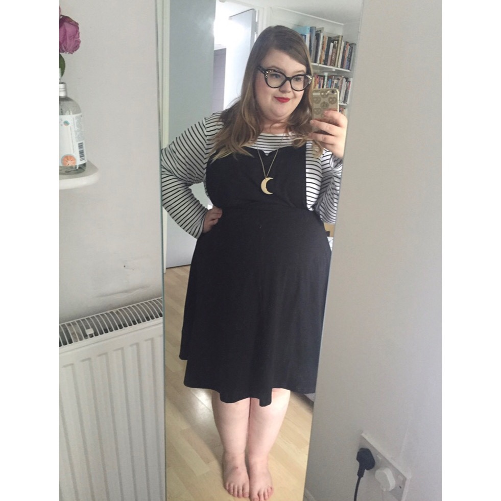 famous designer brand cheap sale new style ASOS Curve uk 24 #plussize jersey pinafore dress ❤️...