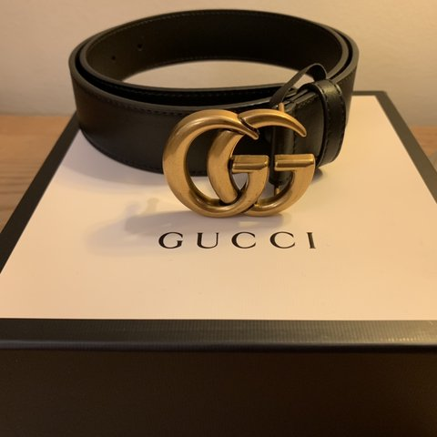 "5aeda96a983 Gucci Marmont Belt Size 80 (31""-35"") UK Size 10-16 Never - - Depop"